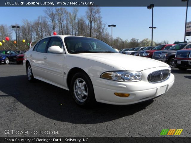 white 2001 buick lesabre custom medium gray interior vehicle archive 27684213. Black Bedroom Furniture Sets. Home Design Ideas