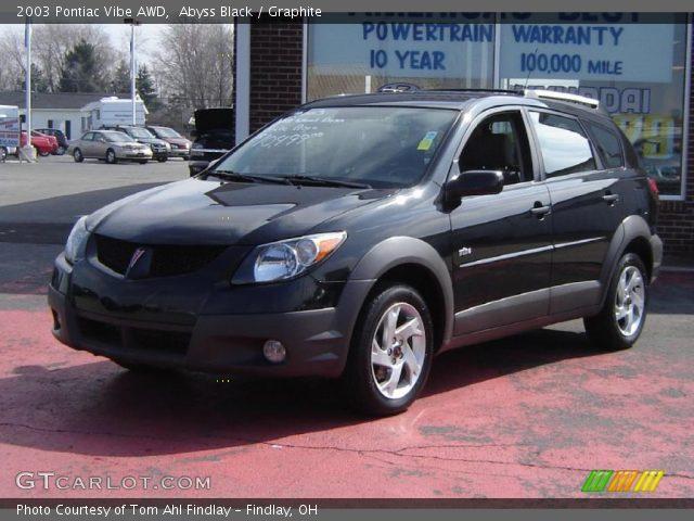 2003 Pontiac Vibe AWD in Abyss Black