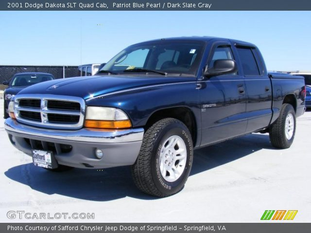 patriot blue pearl 2001 dodge dakota slt quad cab dark. Black Bedroom Furniture Sets. Home Design Ideas