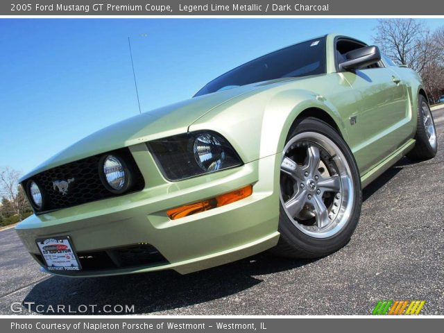 legend lime metallic 2005 ford mustang gt premium coupe. Black Bedroom Furniture Sets. Home Design Ideas