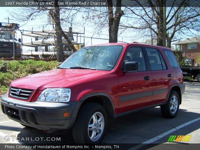 San Marino Red 1997 Honda Cr V Lx 4wd Charcoal Interior Vehicle Archive
