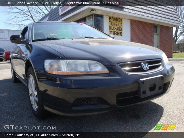 nighthawk black pearl 2002 honda accord ex v6 coupe charcoal interior. Black Bedroom Furniture Sets. Home Design Ideas