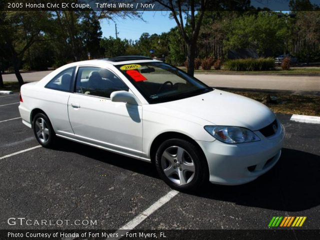 2005 Honda Civic EX Coupe in Taffeta White