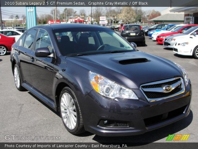 graphite gray metallic 2010 subaru legacy 2 5 gt premium sedan off black interior gtcarlot. Black Bedroom Furniture Sets. Home Design Ideas