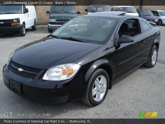 black 2005 chevrolet cobalt ls coupe ebony interior. Black Bedroom Furniture Sets. Home Design Ideas