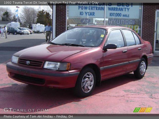 1992 Toyota Tercel DX Sedan in Medium Red Pearl Metallic
