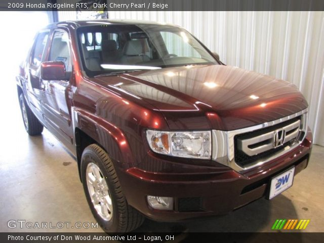 dark cherry pearl 2009 honda ridgeline rts beige. Black Bedroom Furniture Sets. Home Design Ideas