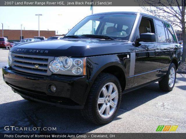 java black pearl 2007 land rover range rover hse sand jet interior vehicle. Black Bedroom Furniture Sets. Home Design Ideas