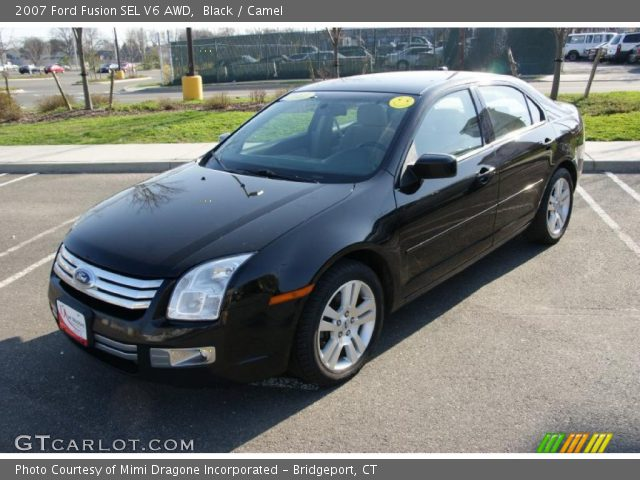 black 2007 ford fusion sel v6 awd camel interior vehicle archive 28092454. Black Bedroom Furniture Sets. Home Design Ideas