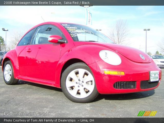 Salsa Red 2008 Volkswagen New Beetle S Coupe Black Interior Vehicle Archive