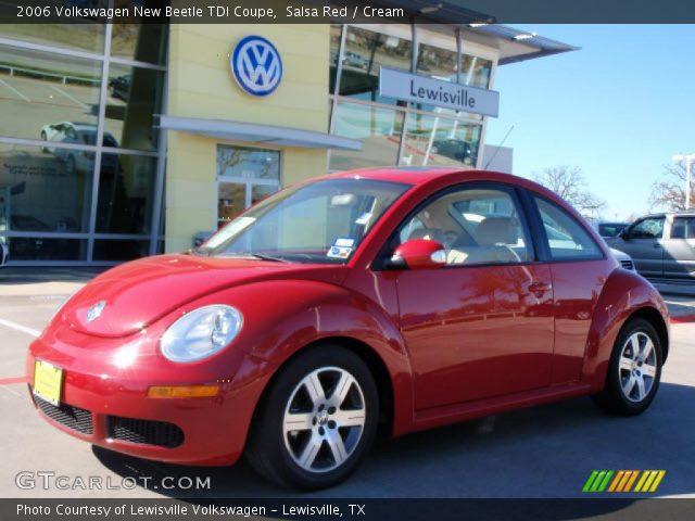 salsa red  volkswagen  beetle tdi coupe cream interior gtcarlotcom vehicle