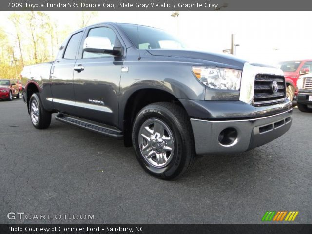 slate gray metallic 2009 toyota tundra sr5 double cab graphite gray interior. Black Bedroom Furniture Sets. Home Design Ideas