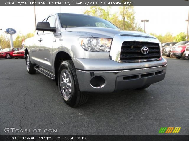 silver sky metallic 2009 toyota tundra sr5 double cab graphite gray interior. Black Bedroom Furniture Sets. Home Design Ideas