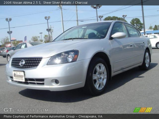 sheer silver metallic 2006 nissan altima 25 s