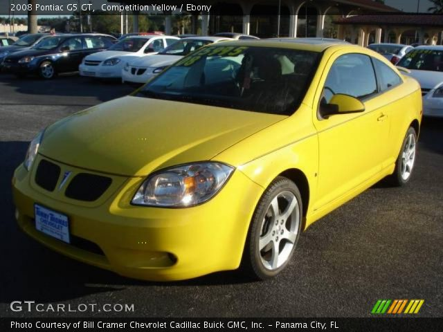 competition yellow 2008 pontiac g5 gt ebony interior. Black Bedroom Furniture Sets. Home Design Ideas