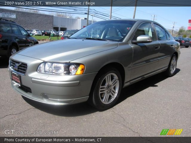 willow green metallic 2007 volvo s60 2 5t beige interior vehicle archive. Black Bedroom Furniture Sets. Home Design Ideas