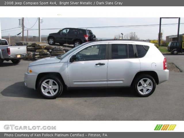 bright silver metallic 2008 jeep compass sport 4x4. Black Bedroom Furniture Sets. Home Design Ideas