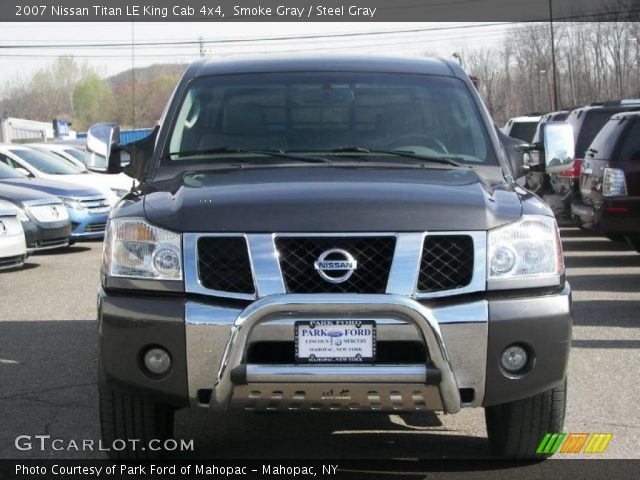 smoke gray 2007 nissan titan le king cab 4x4 steel gray interior vehicle. Black Bedroom Furniture Sets. Home Design Ideas