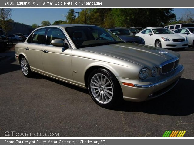 winter gold metallic 2006 jaguar xj xj8 champagne. Black Bedroom Furniture Sets. Home Design Ideas