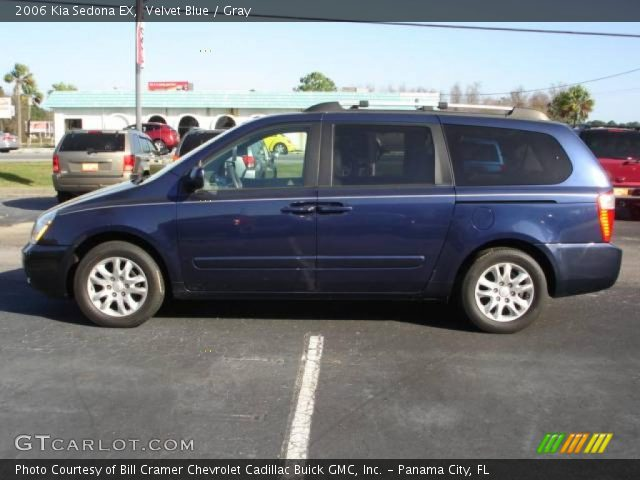 velvet blue 2006 kia sedona ex gray interior. Black Bedroom Furniture Sets. Home Design Ideas