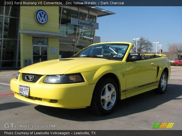 zinc yellow metallic 2001 ford mustang v6 convertible. Black Bedroom Furniture Sets. Home Design Ideas