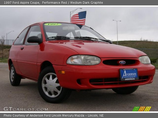performance red 1997 ford aspire coupe medium dark. Black Bedroom Furniture Sets. Home Design Ideas