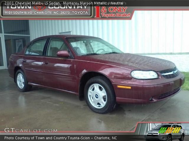 monterey maroon metallic 2001 chevrolet malibu ls sedan. Black Bedroom Furniture Sets. Home Design Ideas