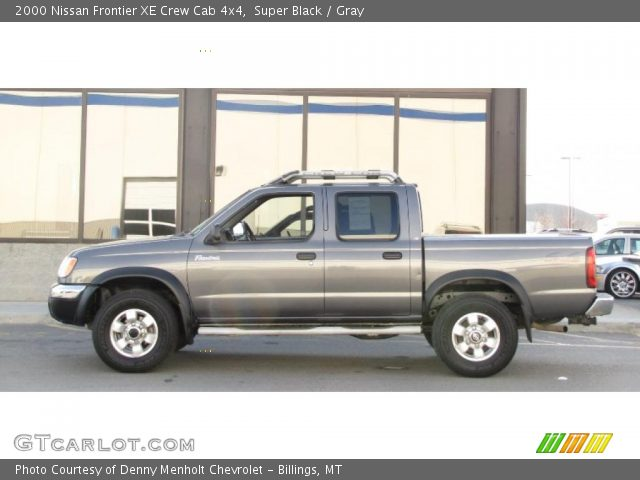 super black 2000 nissan frontier xe crew cab 4x4 gray interior vehicle. Black Bedroom Furniture Sets. Home Design Ideas