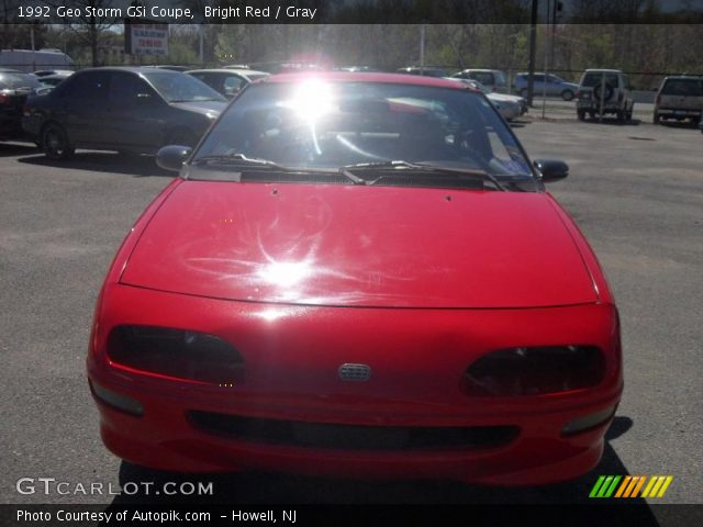 1992 Geo Storm GSi Coupe in Bright Red
