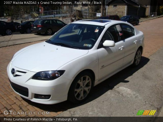 rally white 2007 mazda mazda3 s grand touring sedan black interior vehicle. Black Bedroom Furniture Sets. Home Design Ideas