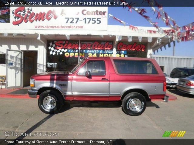 electric current red pearl metallic 1994 ford bronco xlt 4x4 gray interior gtcarlot com vehicle archive 28397451 gtcarlot com