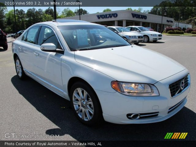 ice white 2010 volvo s80 3 2 sandstone interior. Black Bedroom Furniture Sets. Home Design Ideas
