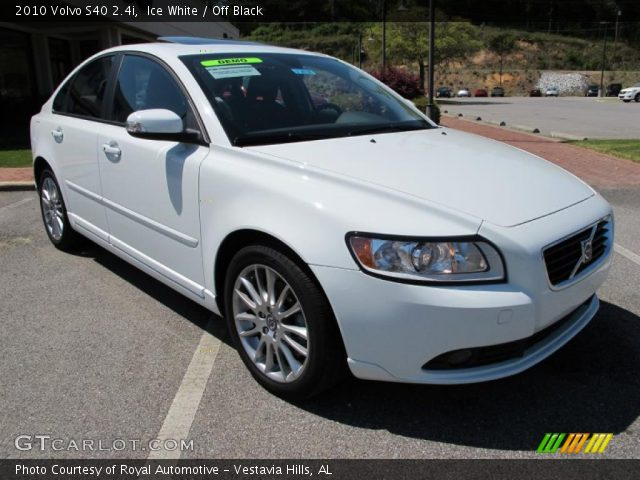 ice white 2010 volvo s40 off black interior vehicle archive 28402561. Black Bedroom Furniture Sets. Home Design Ideas