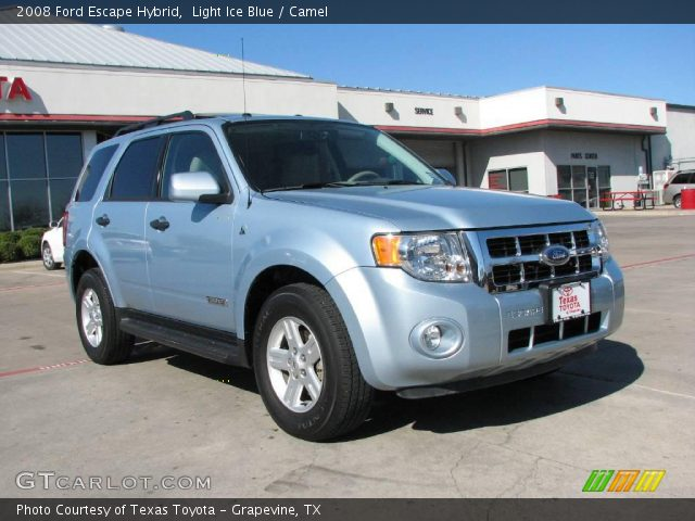 light ice blue 2008 ford escape hybrid camel interior. Black Bedroom Furniture Sets. Home Design Ideas