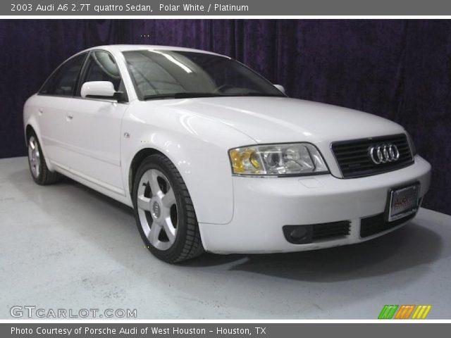 polar white 2003 audi a6 2 7t quattro sedan platinum interior vehicle. Black Bedroom Furniture Sets. Home Design Ideas