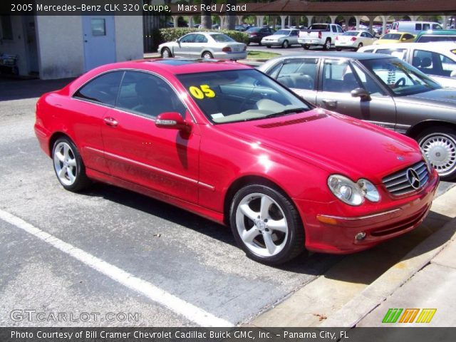 Mars red 2005 mercedes benz clk 320 coupe sand for 2005 mercedes benz clk