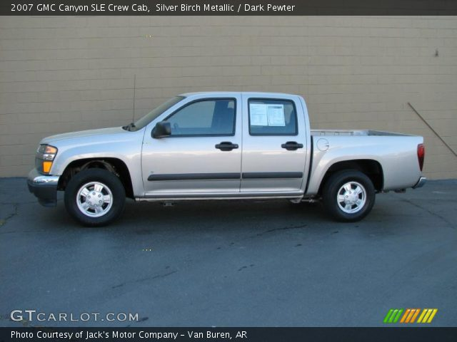 silver birch metallic 2007 gmc canyon sle crew cab. Black Bedroom Furniture Sets. Home Design Ideas