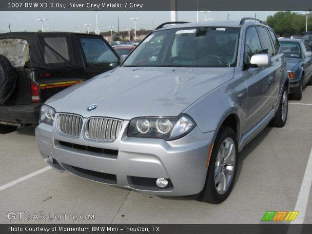silver grey metallic 2007 bmw x3 grey interior vehicle archive 28461805. Black Bedroom Furniture Sets. Home Design Ideas