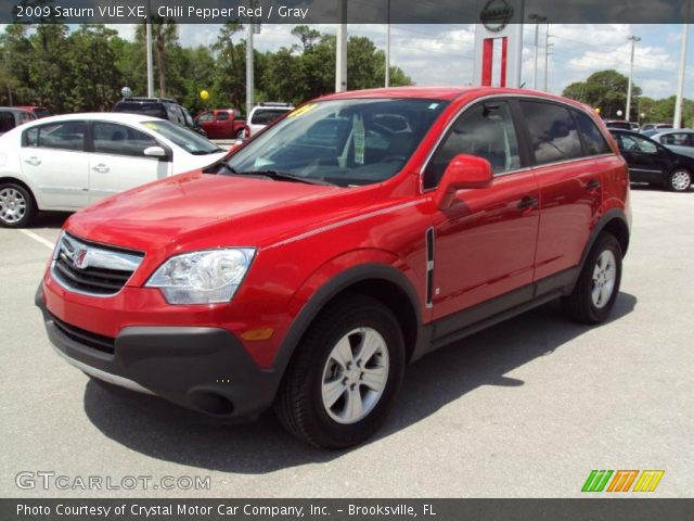 chili pepper red 2009 saturn vue xe gray interior vehicle archive 28462003. Black Bedroom Furniture Sets. Home Design Ideas