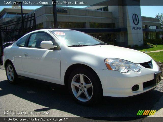 2003 Acura Rsx Interior. Taffeta White 2003 Acura RSX