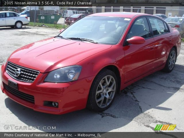 Code Red 2005 Nissan Altima 3.5 SE-R with Charcoal interior 2005 Nissan