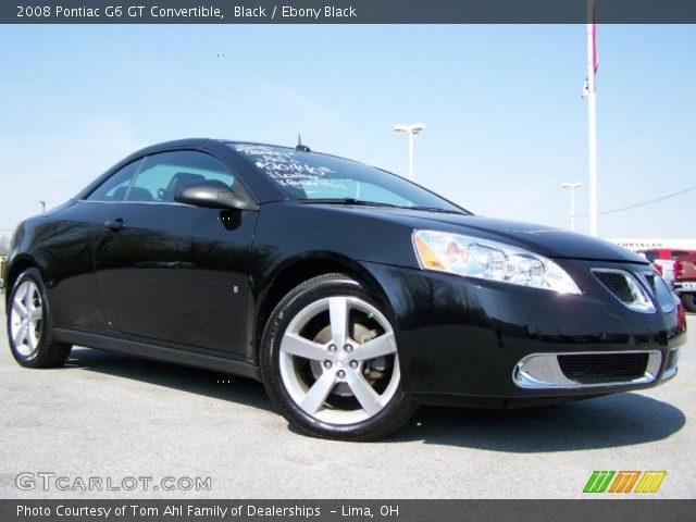 black 2008 pontiac g6 gt convertible ebony black interior vehicle archive. Black Bedroom Furniture Sets. Home Design Ideas