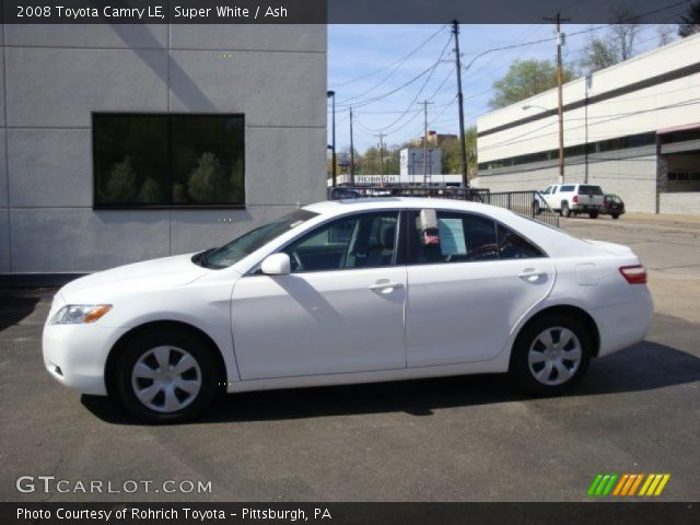 super white 2008 toyota camry le ash interior vehicle archive 28595444. Black Bedroom Furniture Sets. Home Design Ideas