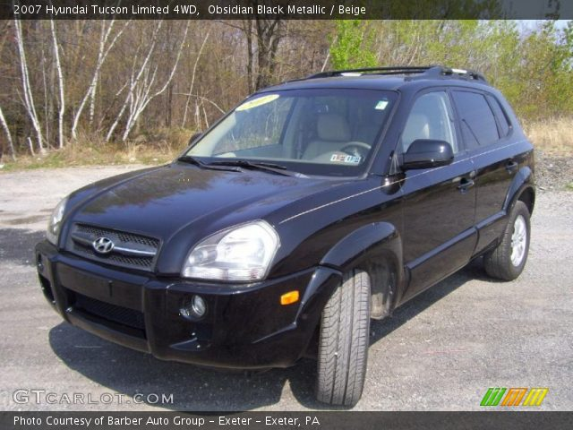 obsidian black metallic 2007 hyundai tucson limited 4wd. Black Bedroom Furniture Sets. Home Design Ideas