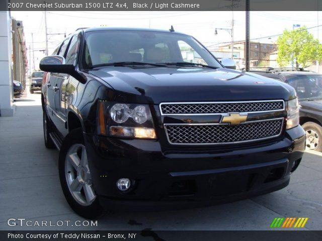 black 2007 chevrolet suburban 1500 ltz 4x4 light cashmere interior vehicle. Black Bedroom Furniture Sets. Home Design Ideas