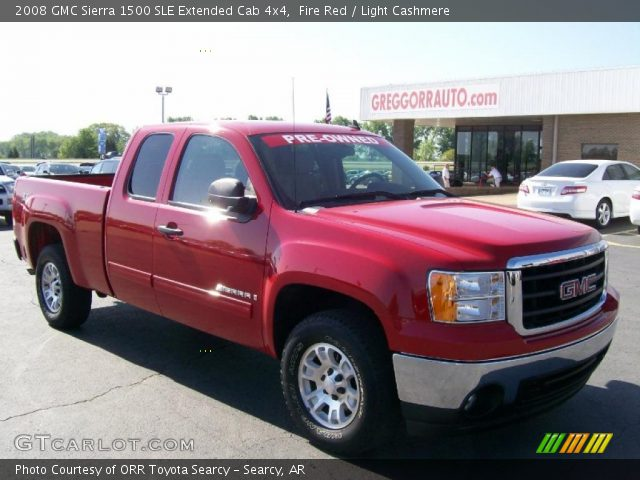 fire red 2008 gmc sierra 1500 sle extended cab 4x4. Black Bedroom Furniture Sets. Home Design Ideas