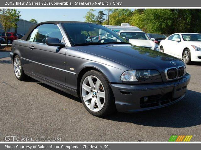 2003 BMW 3 Series 325i Convertible in Steel Grey Metallic