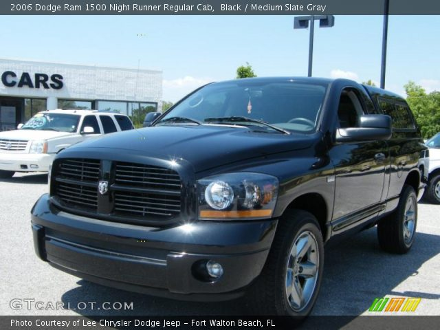 black 2006 dodge ram 1500 night runner regular cab. Black Bedroom Furniture Sets. Home Design Ideas