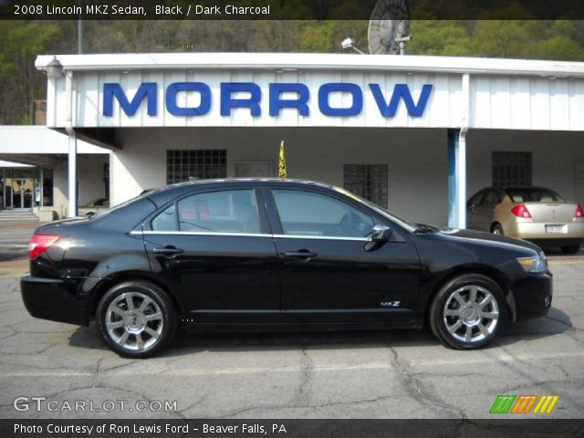 Black 2008 Lincoln MKZ Sedan with Dark Charcoal interior 2008 Lincoln MKZ