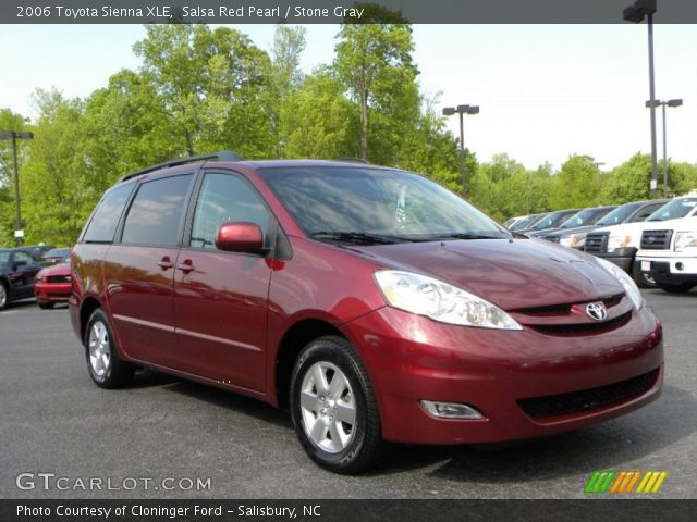 salsa red pearl 2006 toyota sienna xle stone gray. Black Bedroom Furniture Sets. Home Design Ideas